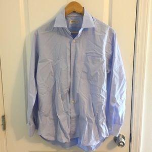 Peter Millar Blue Collared Button Down Shirt